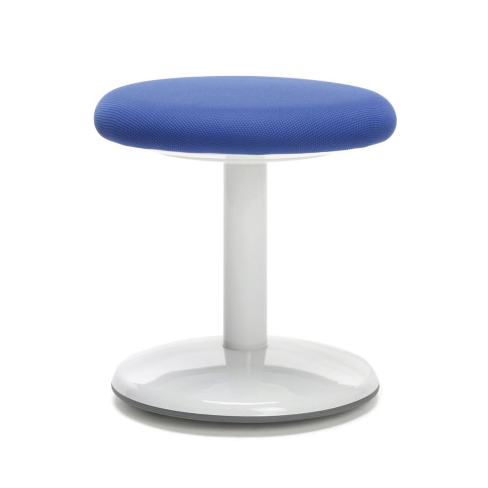 "Active Fabric Stool 14""H Blue Fabric Dimensions: 14""H x 13"" Diameter Weight: 9 lbs"