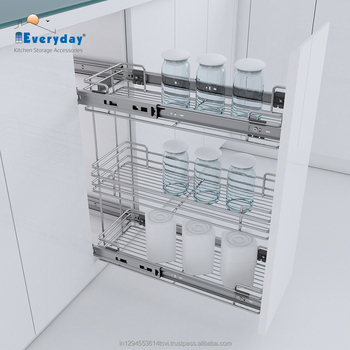 Soft Closing Stainless Steel Kitchen Drawer Organizer Buy Kitchen Shelf Organizer Cupboard Organizers Cabinet Organizers Product On Alibaba Com