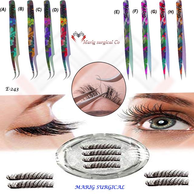 Eyelash Extension Tweezers Manufacturer Volume Lash Tweezer Sets Tools And  Eyebrow Use Eyelash Extension Tweezer - Buy Good Eyelashes Tweezers,Colored