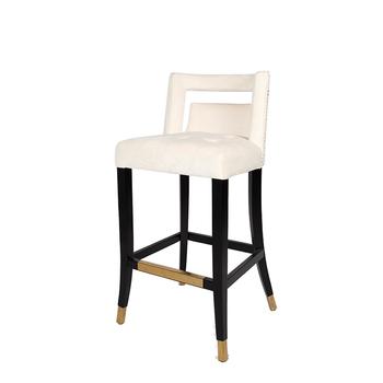 Admirable New Business Ideas Ivory Fabric Barstool Velvet Upholstered Modern Counter Chair Bar Stool Buy Chair Bar Stool Custom Bar Stool Counter Bar Stool Ncnpc Chair Design For Home Ncnpcorg