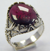 925 Sterling Silver fashionable ring size 8 US with Natural rhodolite garnet gemstone