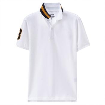 93c03b8e9 O ajuste do clássico camisa polo homem branco t-shirt gola fantasia  totalmente personalizado homem