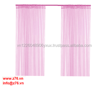 Customized luxury high quality modern household curtain / polyester warp knitting curtain 1 pair