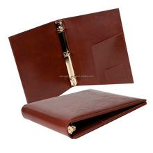 customized logo notebook leather portfolio ring binder