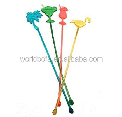 High Quality Disposable Plastic Coffee Cocktail Stirrers muddler