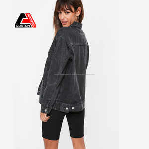 Wholesale Denim Thailand Jackets Fashion Cowboy Female Jacket 100% Cotton Denim Jacket
