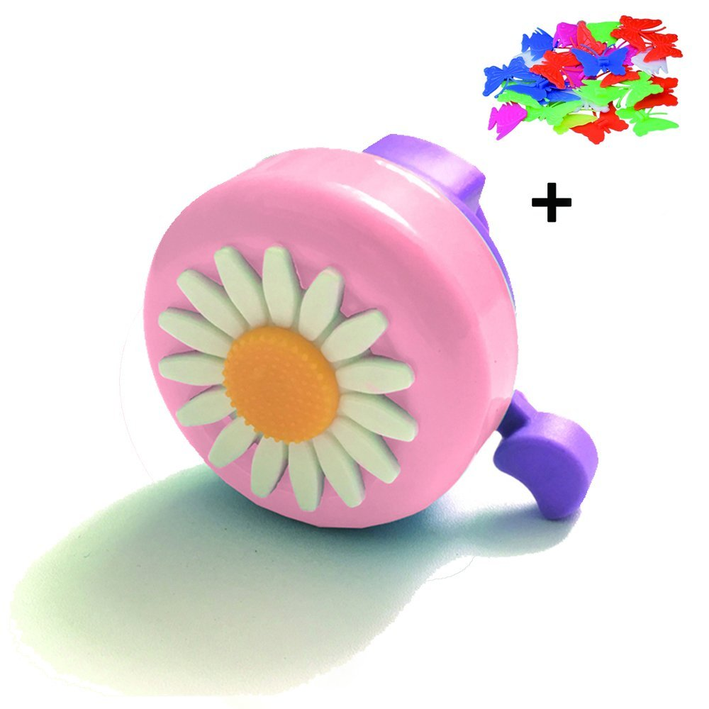 Kids Bicycle Bell,Child Toddler Pink Bicycle Bike Bell Ring Horn Accessories for Girls Boys by Topivot