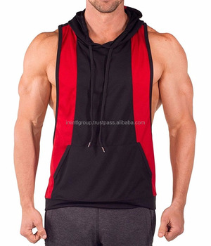 ef47c1200d559 Hot Men Gym Clothing Bodybuilding Stringer Hoodie Tank Top Muscle hooded  IM.2245