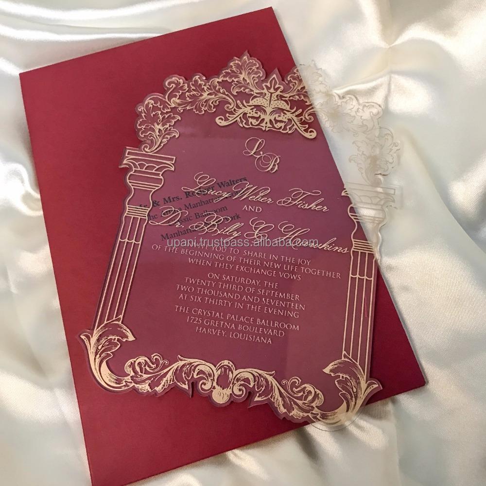Clear Acrylic Invitation - Buy Clear Acrylic Invitation,Acrylic ...