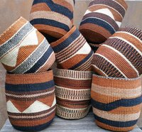 African traditional handmade Sisal Baskets , Eco friendly Flower Pots, Storage baskets