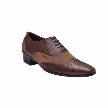 Hombres Pu zapatos Marrón Zapato Nuevo Y Semi Buy De Zapatos Vestir Formal Completa Estilo Suela Oxford Ala Encaje Cubano RjqA345L