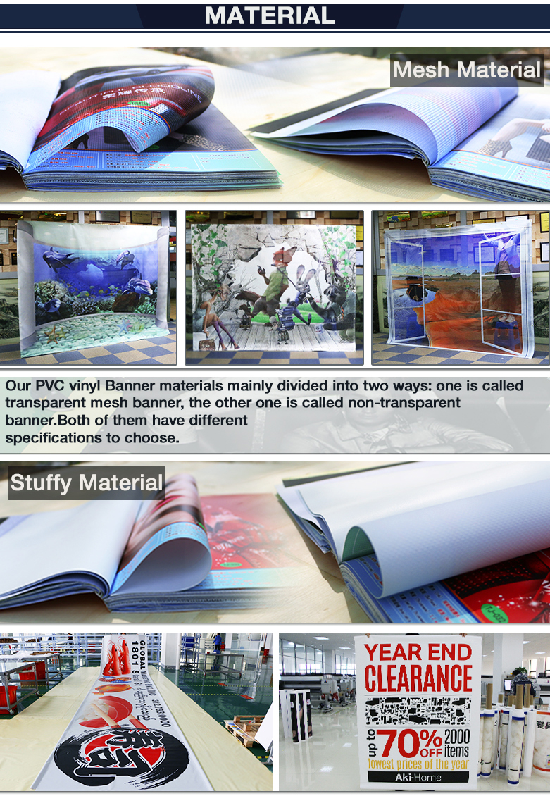 Customized PVC Flex Banner Garden Fencing PVC Vinyl Banner For Cheap Yard Fencing Banner