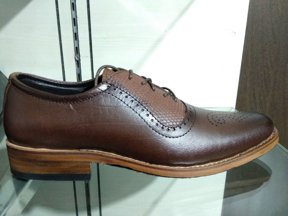 LEATHER 100 GOODYEAR FULL HANDMADE WELTED SHOE 4pCwcq6zB