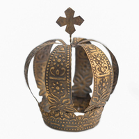 Aged Brass Antique Wedding Events Metal Crown