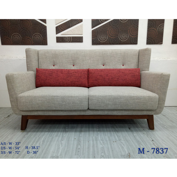 Modern Simple Style Fabric Sofa With Wooden Leg Buy Back Seat