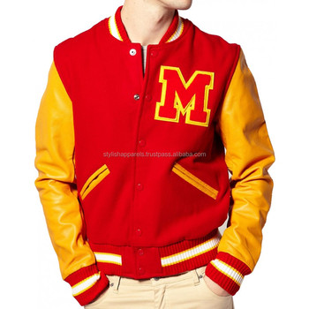 Letterman Varsity Jackets Custom Chenille Patches Embroidery Collage Boy