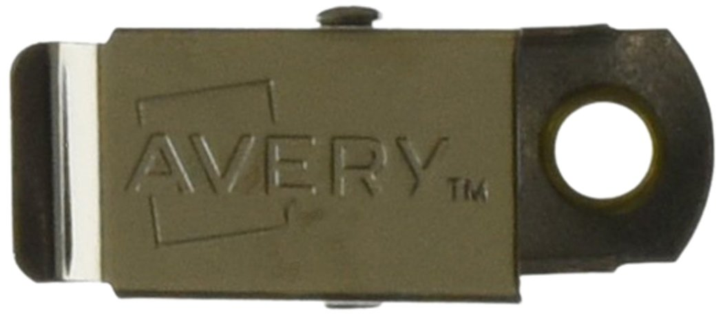 Avery Garment-Friendly Clip Style Name Badge Holders, with Inserts, Box of 100 (74541)