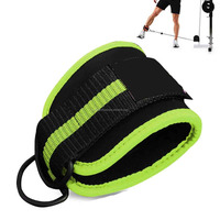 Weight Lifting GYM Ankle Strap D Ring Thigh Pulley Padded Ankle Straps