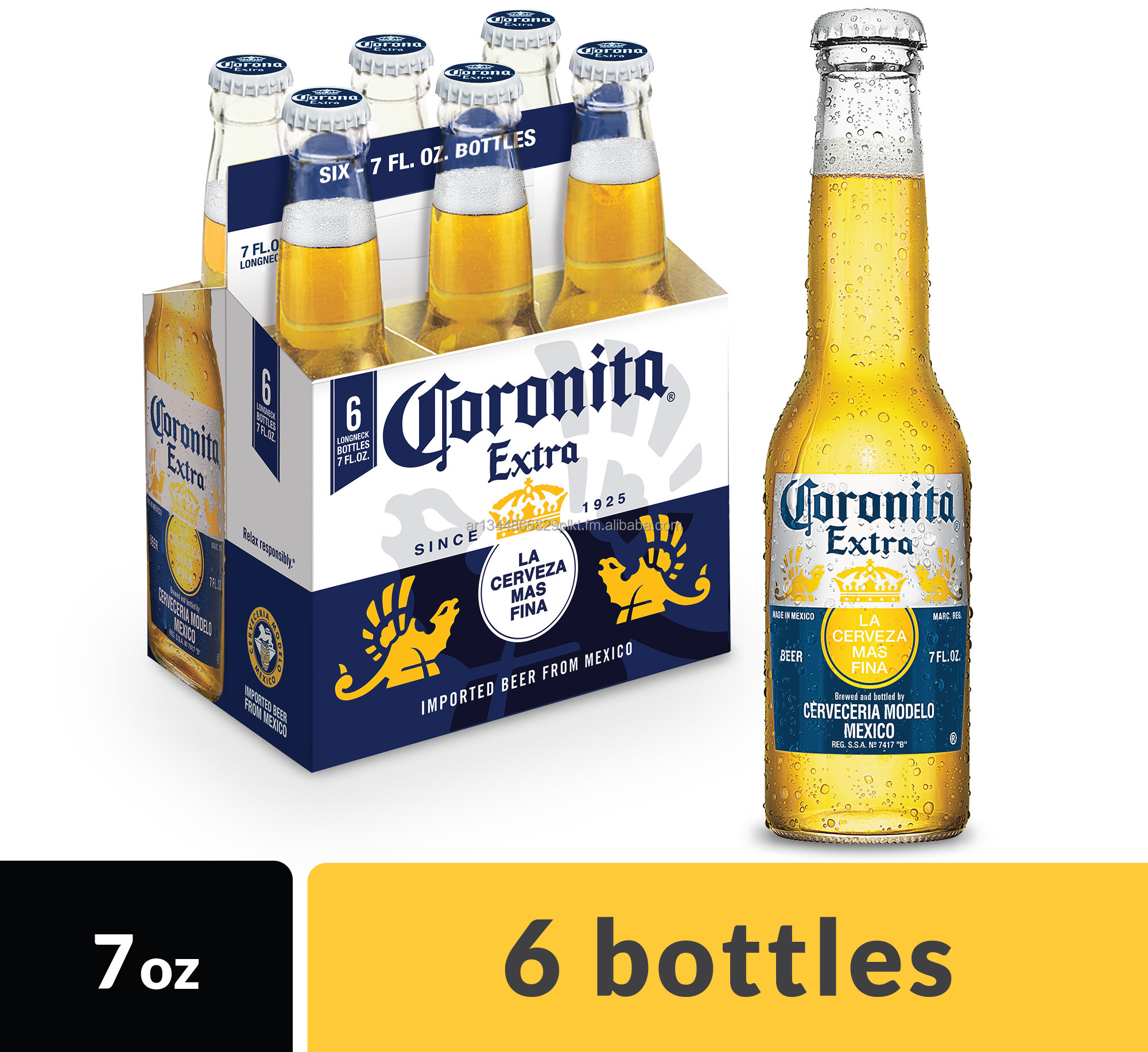Strong Corona Extra lager beer 330ml For Export