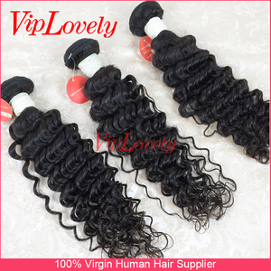 Viplovely hair deep curly raw unprocessed natural color human virgin brazilian hair