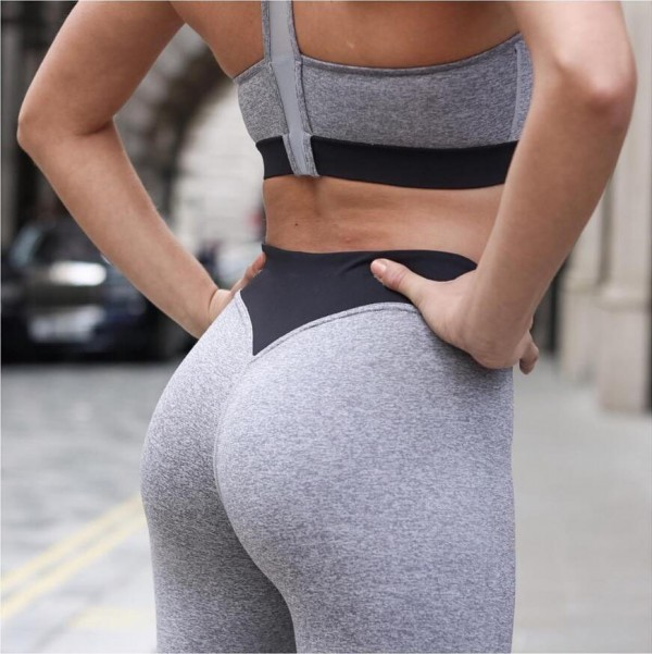 2f36d2d08f Women Sexy Hips Sports Leggings Texture Pant Compression Gym Running Tights  Fitness Leggings - Buy Women High Quality Gym Tights Wholesale,Stripes ...
