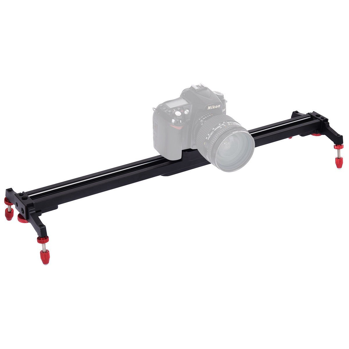 """Safstar 32""""Aluminum Alloy Camera Track Slider Video Stabilizer Rail with 4 Ball-Bearings for DSLR Camera DV Video Camcorder Film Photography"""