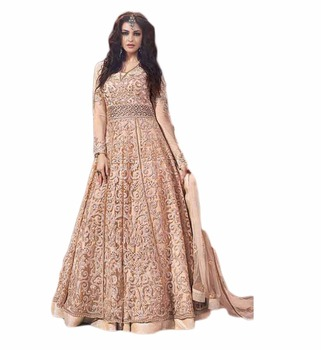7133a90a0141 Engagement Wedding Wear Lehenga 2017 / Anarkali Suits 2017 / Women's  Semi-Stitched Dress Material