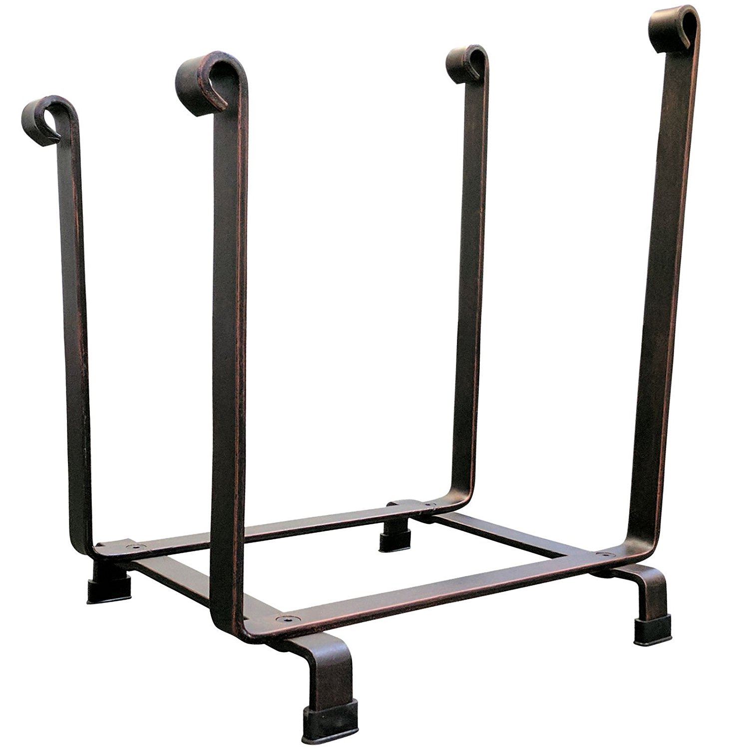 "Eight24hours Steel Hearth Firewood Log Rack Storage Holder 18"" H x 17"" L Only Free E-Book"