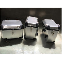 Silver/Black Motorcycle Aluminum Side Box Pannier Bag For TRIUMPH TIGER 1200 XC