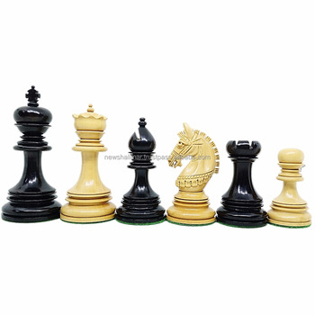 Unique Luxury Chess Pieces Set Greek Maharaja Ebony India 4 25 Extra Queens