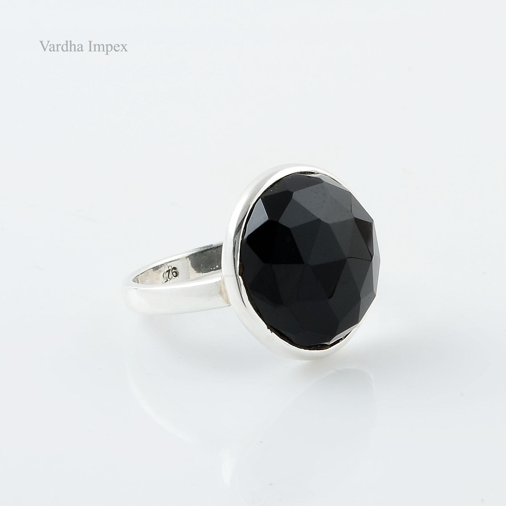 Серебряные кольца с черным агатом винтаж фото