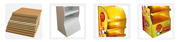 Promotionele Draagbare Pos Kartonnen Vloer Display Stand, Retail Product Pop Kartonnen Display Stand