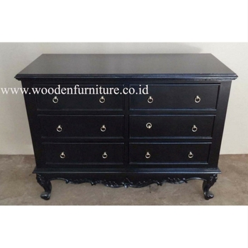 Black Painted Chest Of Drawers Antique Reproduction Wooden Commode Mahogany  European Home Furniture Bedroom French Style - Buy Bedroom Cabinet,Chest ...