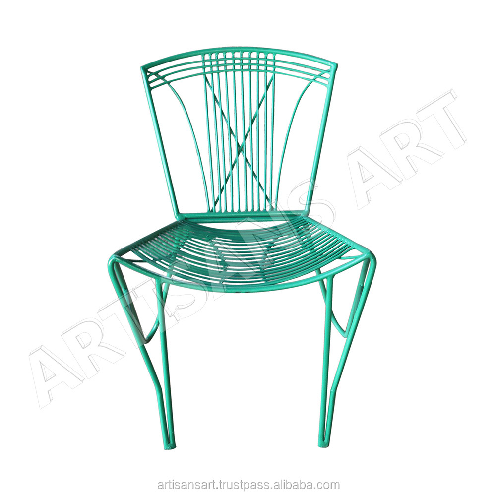 Mid century vintage metal replica wire chair garden furniture chair manufacturer indian handmade industrial furniture