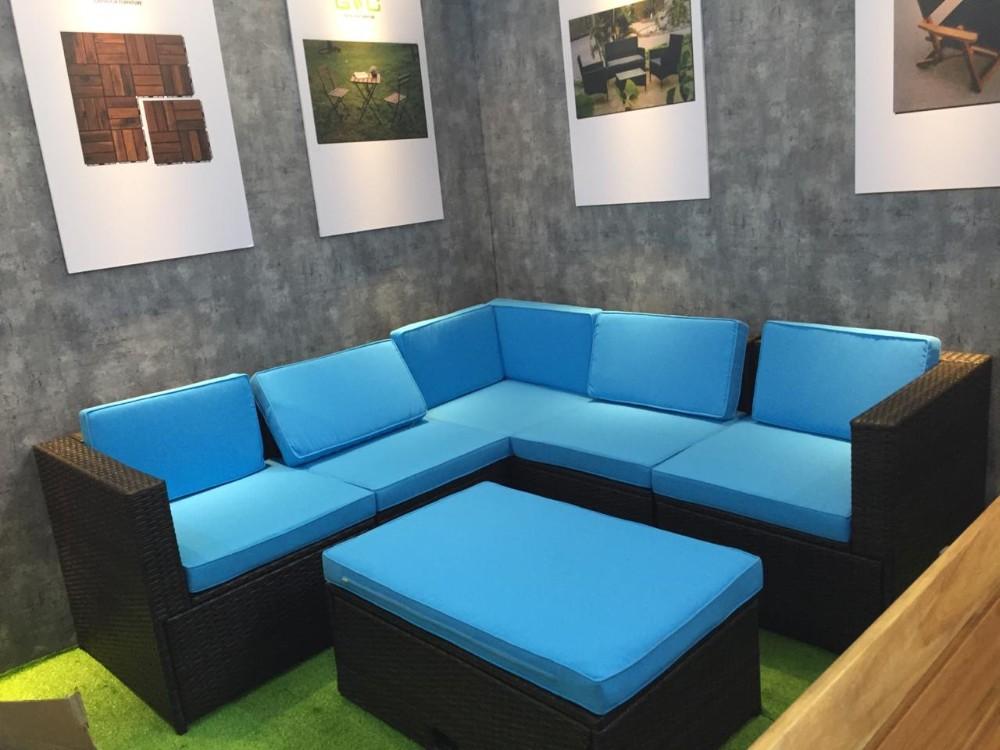 6 Pieces Outdoor Sectional Sofa Set/ Manual Weaving Patio ...