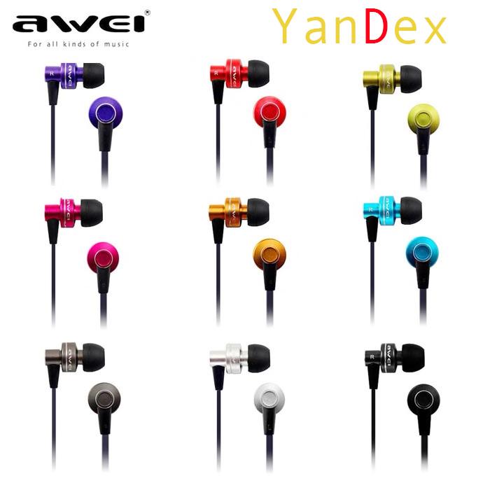 AWEI ES-900I מכירה לוהטת מפואר פאנקי מצחיק רדיום מתכת אוזניות עם מיקרופון 3.5 MM