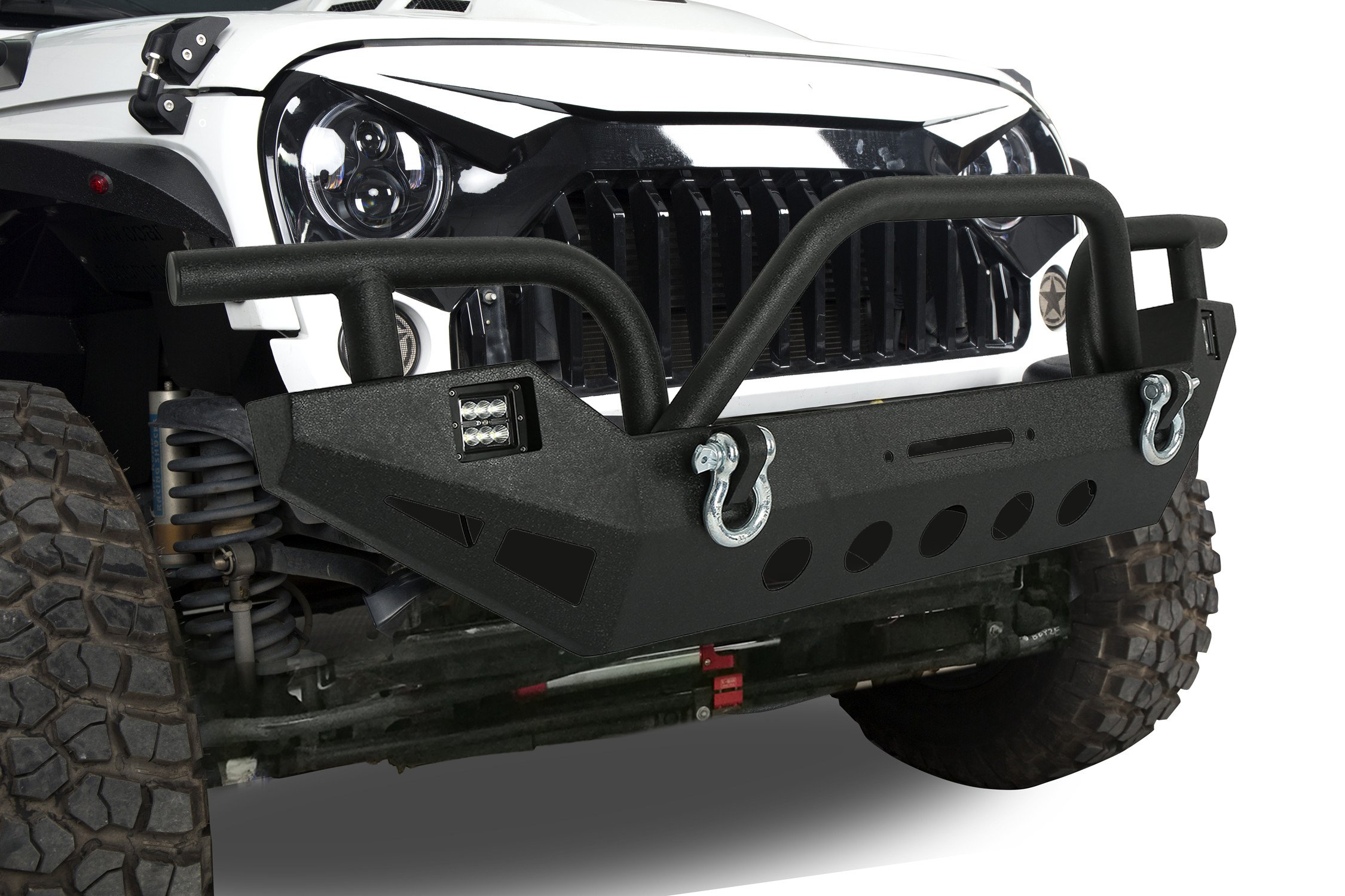 5d961082ca Get Quotations · u-Box 2007-2018 Jeep Front Bumper Wild Boar Style w/LED  Lighting