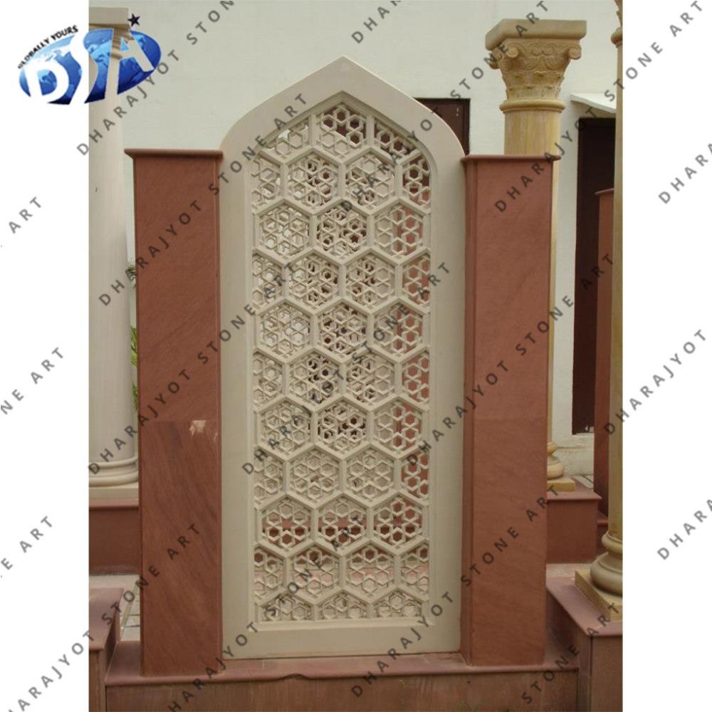 Stone Outdoor Jali Wall Decor