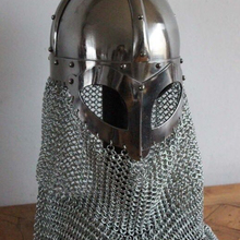 Wandcraft vernietet mild kette mail medieval armor <span class=keywords><strong>helm</strong></span>