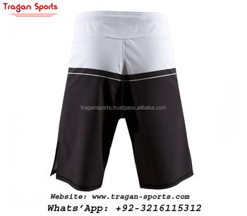 Youth Black & white training mma shorts