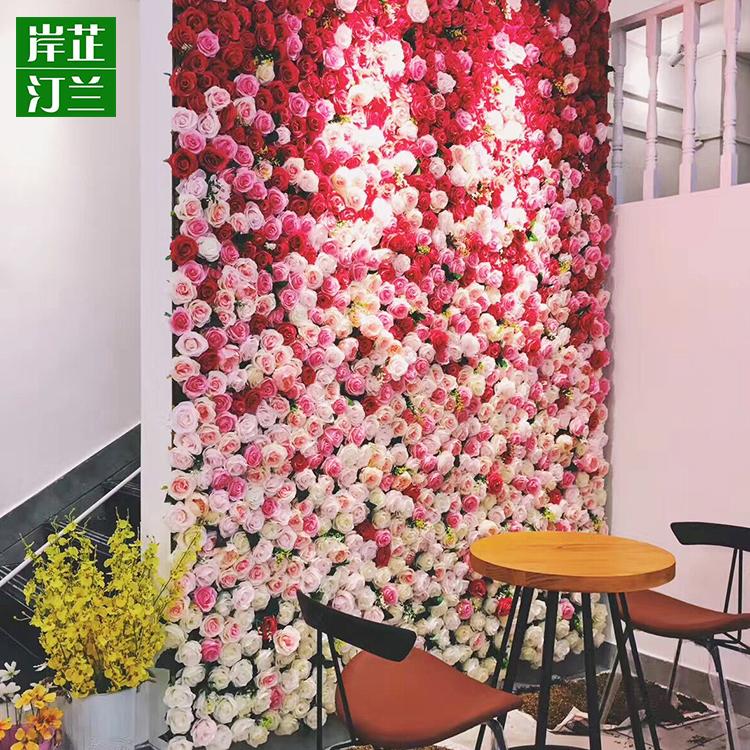 Custom Silk Artificial Wedding Rose Flower Wall Decor Silk Flower