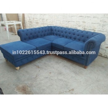 Industrial Denim Three Seater Chaise End Sofa Chesterfield Sofa,Vintage  Design 3 Seater Chaise End Denim Sofa - Buy Cheap Chesterfield Sofa,3 Seat  ...