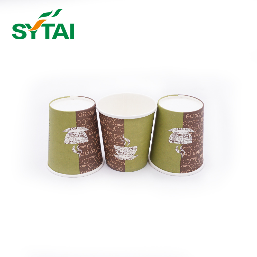 Biodegradable disposable printing hot drinks single wall coffee paper cups