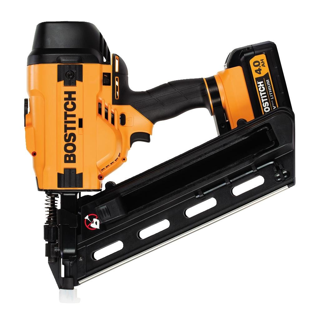 Get Quotations · BOSTITCH BCF28WWM1 20V MAX 28 Degree Wire Weld Cordless Framing Nailer (Includes Battery and Charger
