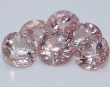 natural peach color morganite fine oval cut loose gem stones