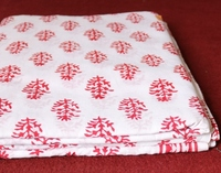 Floral Sanganeri Print Fabric 100% Hand Block Printed Cotton Handmade Soft Pure Cotton Fabric