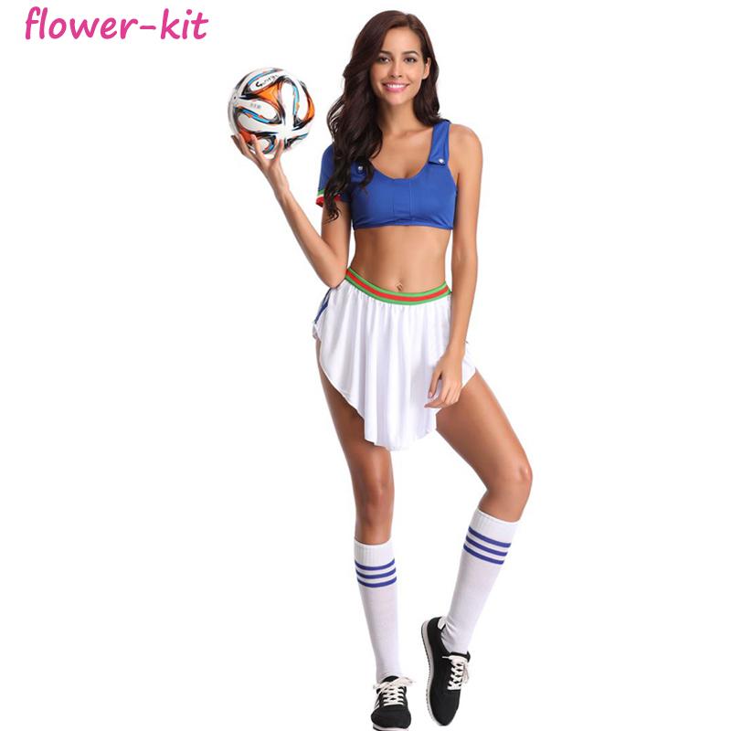 Ropa interior atractiva uniforme jugador de fútbol animadora Copa Mundial  de fútbol de la muchacha traje 8d2cb17685d4a