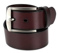 Pure leather belts for men removable double single flat buckle high quality genuine leather belt