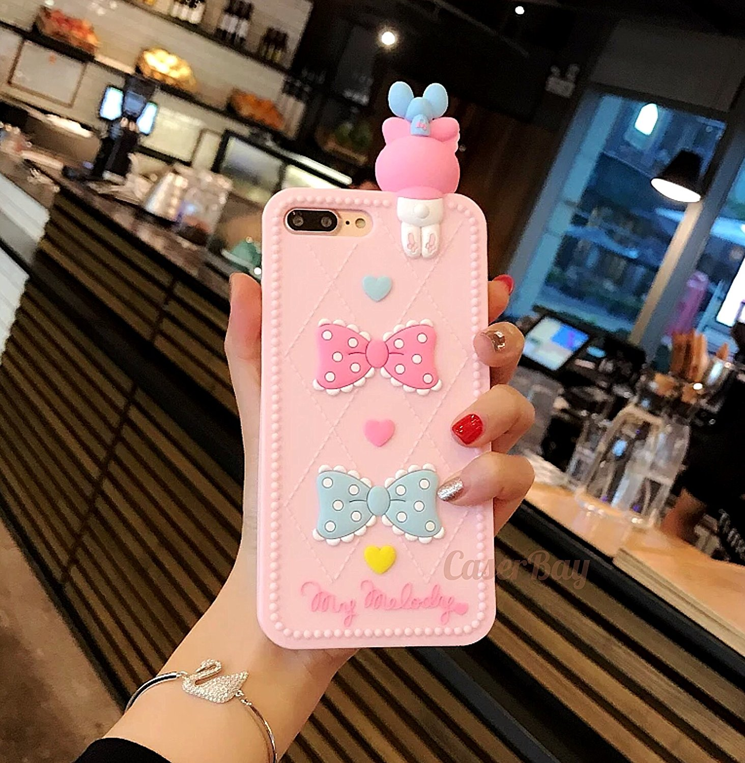 """[CaserBay] iPhone 8 Plus & 7 Plus 5.5"""" Phone Case 3D Cartoon Kawaii Colorful Animal Series Soft Silicone Rubber Cover (My Melody)"""