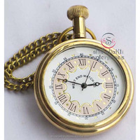 Fantasy Classic Pocket Watch, Nautical Brass Pocket Watch
